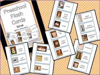 Preschool Flash Cards/Labels - Restroom