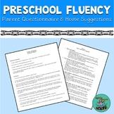 Preschool Fluency: Parent interview & home suggestions, sp