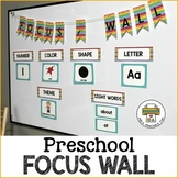 Preschool Focus Wall Set-7 designs + editable cards