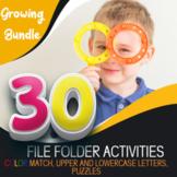 Preschool File Folder Activities, Growing Bundle Colors, L