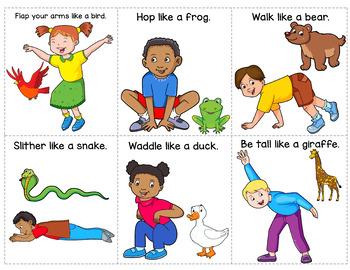 Preschool Following Directions Task Cards