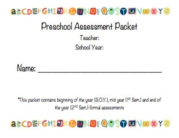 Marvelous Preschool Formal Assessment Packet