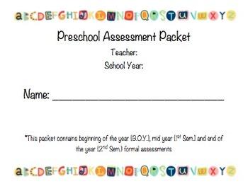 Preschool Formal Assessment Packet