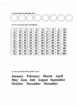 Preschool Full Assessment