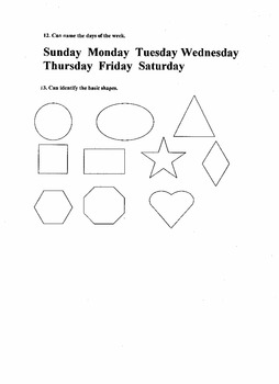 Preschool Full Assessment
