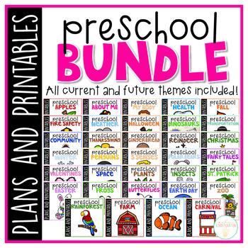Preschool: Full Year Curriculum {Plans and Printables} GROWING BUNDLE