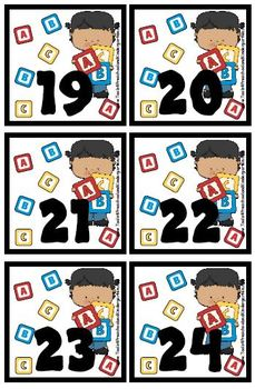 Preschool Fun theme Calendar Cover-Ups / Memory Game - Classroom Daycare Fun