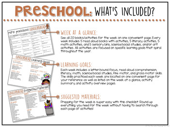 Preschool: Gingerbread {Plans and Printables}