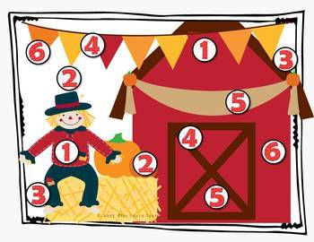 Fall Game Boards - Counting 1-12