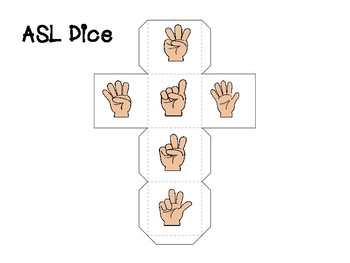 Preschool Games ASL Dice