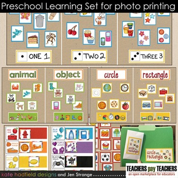 Preschool Games and Activities PRINT AS PHOTO - colors, counting, shapes, & more