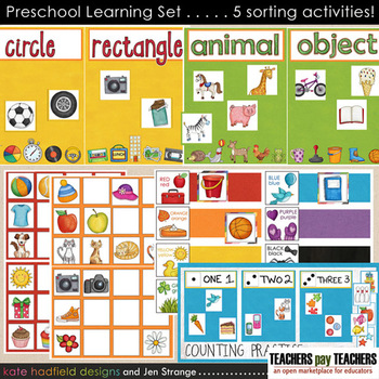 Preschool Games and Activities - colors, counting, shapes, and more!