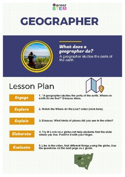 Preschool Geography Activity - Globetrotters!