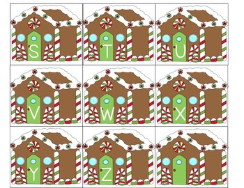 Preschool Gingerbread Letter Matching
