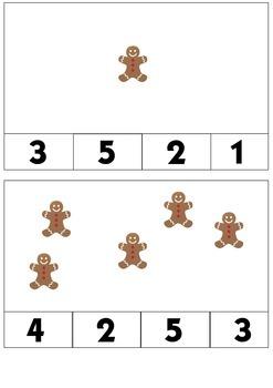 Preschool Gingerbread Man Mini Unit