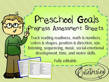 Preschool Goals and Assessment Form