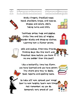 Goodbye Poem To Parents Worksheets & Teaching Resources   TpT