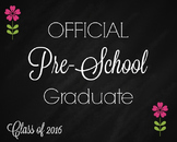 Preschool Graduate Chalkboard Printable sign