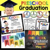 Preschool Graduation Bundle - EDITABLE - Diploma - Invitat