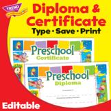 Preschool Graduation Certificate Diploma | Print & Digital