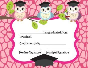 Preschool Graduation Certificates