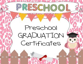 Preschool Graduation Certificates