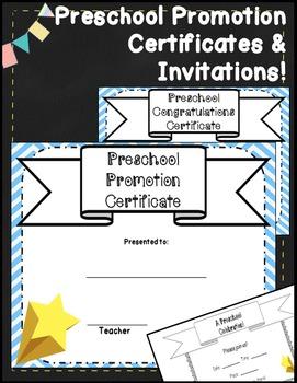 Preschool Graduation Certificates & Preschool Diplomas