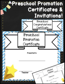 Preschool Graduation Certificates & Preschool Diplomas
