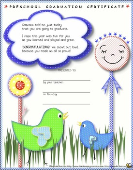 Preschool Graduation Certificates Bundle End of the School Year