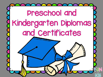 preschool graduation certificate editable teaching resources