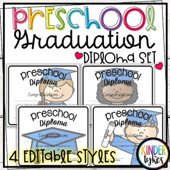 Preschool Graduation Diploma Set