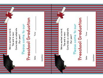 Preschool Graduation Invitation & Certificate