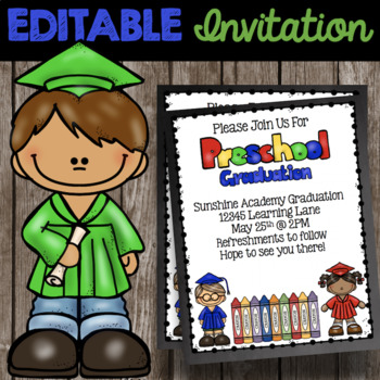 free graduation invitations teaching resources teachers pay teachers