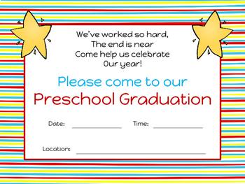 Preschool Graduation Invitation and Certificate