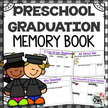 Preschool Graduation Memory Book