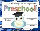 Preschool Graduation Owl Certificates