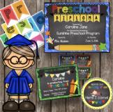 Preschool Graduation Pack - Diploma - Banner - Sign - Anno