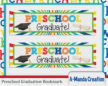 Preschool Graduation Printable Bookmarks