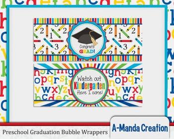 Preschool Graduation Printable Bubble Wrappers
