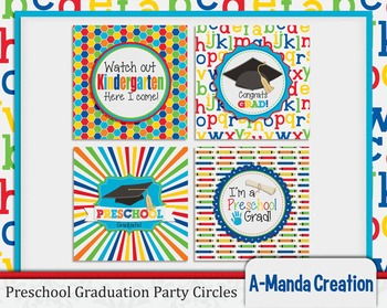 Preschool Graduation Printable Party Circles