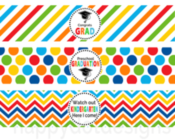 Preschool Graduation Water Bottle Labels
