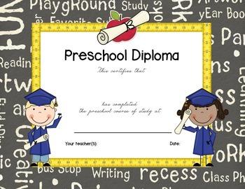 preschool completion certificates