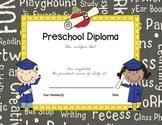 Preschool Graduation/Completion Certificate