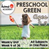 Preschool Green - Weekly Unit for Preschool, PreK or Homeschool