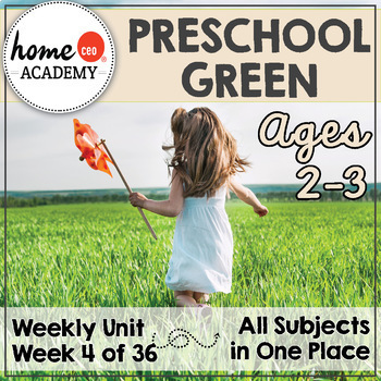 Preschool Green - Weekly Unit for Preschool, PreK or Homeschool