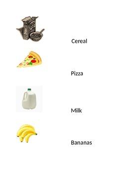 Preschool Grocery List Writing Center