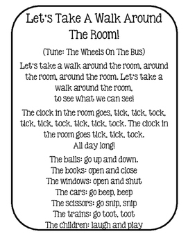 Let's Take A Walk Around The Room!