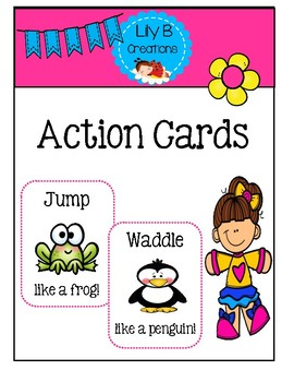 Preschool Group Time Activity #5 ~ Action Cards