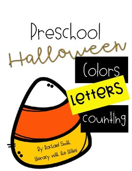 Preschool Halloween {Letters, counting, and colors}