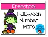 Preschool Halloween Number Mats